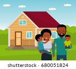 happy african family in the... | Shutterstock . vector #680051824