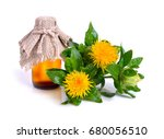 safflower plant with oil in the ... | Shutterstock . vector #680056510