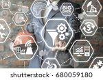 funnel gear data conversation...   Shutterstock . vector #680059180