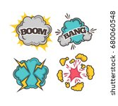 bang and boom colorful cartoon... | Shutterstock .eps vector #680060548