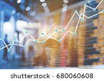 double exposure trading growth...   Shutterstock . vector #680060608