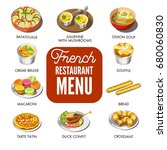 french restaurant menu that... | Shutterstock .eps vector #680060830