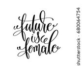 future is female black and... | Shutterstock . vector #680064754