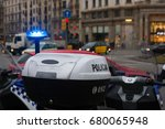 spanish police car standing in... | Shutterstock . vector #680065948
