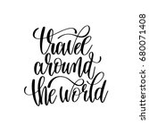travel around the world black... | Shutterstock . vector #680071408
