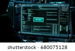 dangerous hacker braking and... | Shutterstock . vector #680075128