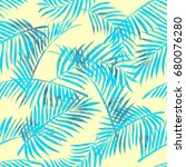 summer seamless background with ... | Shutterstock . vector #680076280