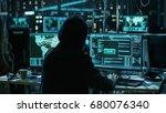 Teenage Hacker Working With Hi...