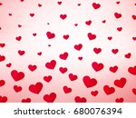 hearts love background | Shutterstock .eps vector #680076394