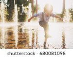 little boy with blond hair... | Shutterstock . vector #680081098