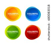 set of colorful round abstract... | Shutterstock .eps vector #680083018