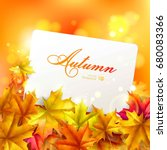 abstract autumn background.... | Shutterstock .eps vector #680083366