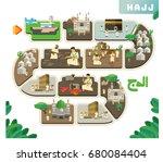 translate   hajj. hajj series... | Shutterstock .eps vector #680084404