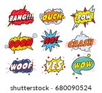comic sound speech effect... | Shutterstock . vector #680090524
