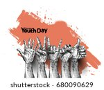 international youth day 12... | Shutterstock .eps vector #680090629