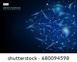 abstract molecules technology... | Shutterstock .eps vector #680094598