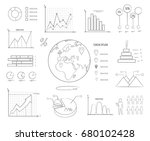 graphics and charts black and... | Shutterstock .eps vector #680102428