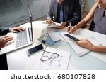 business people working... | Shutterstock . vector #680107828