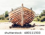 old rusty wooden boat