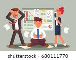 stressed business people... | Shutterstock .eps vector #680111770