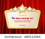 retro frame with five stars and ... | Shutterstock . vector #680112064