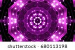 purple floodlights background | Shutterstock . vector #680113198