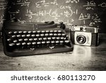 old vintage retro camera with... | Shutterstock . vector #680113270