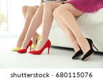 young women with beautiful legs ... | Shutterstock . vector #680115076