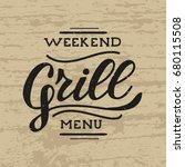 retro grill badges and labels... | Shutterstock .eps vector #680115508