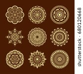 set of circular pattern in form ... | Shutterstock .eps vector #680120668