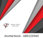 card template. colorful... | Shutterstock . vector #680123560