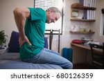 side view of male patient... | Shutterstock . vector #680126359