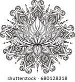 filigree lotus flower  vector...   Shutterstock .eps vector #680128318