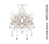 filigree lotus flower  vector... | Shutterstock .eps vector #680128336