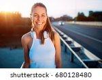 portrait of woman taking break... | Shutterstock . vector #680128480