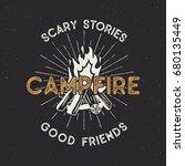 camping t shirt design. hand... | Shutterstock . vector #680135449