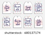 romantic cards collection.... | Shutterstock .eps vector #680137174
