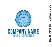 cafe brain logo | Shutterstock .eps vector #680137360