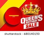 queen's birthday season sale... | Shutterstock .eps vector #680140150