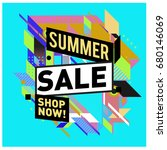 summer sale geometric style web ...   Shutterstock .eps vector #680146069