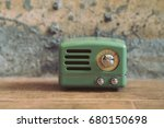 vintage radio with vintage... | Shutterstock . vector #680150698