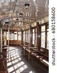 inner italian tram waiting for... | Shutterstock . vector #680158600
