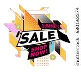 summer sale geometric style web ... | Shutterstock .eps vector #680163274