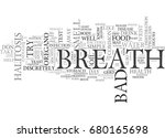 bad breath halitosis text word... | Shutterstock .eps vector #680165698