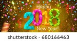 happy new year 2018 greeting... | Shutterstock .eps vector #680166463