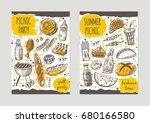 fresh organic fruits brochure...   Shutterstock .eps vector #680166580