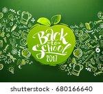 back to school horizontal... | Shutterstock .eps vector #680166640