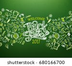back to school horizontal... | Shutterstock .eps vector #680166700