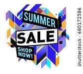 summer sale geometric style web ...   Shutterstock .eps vector #680172586