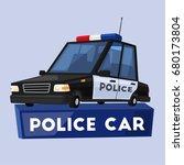 police car. cartoon vector... | Shutterstock .eps vector #680173804